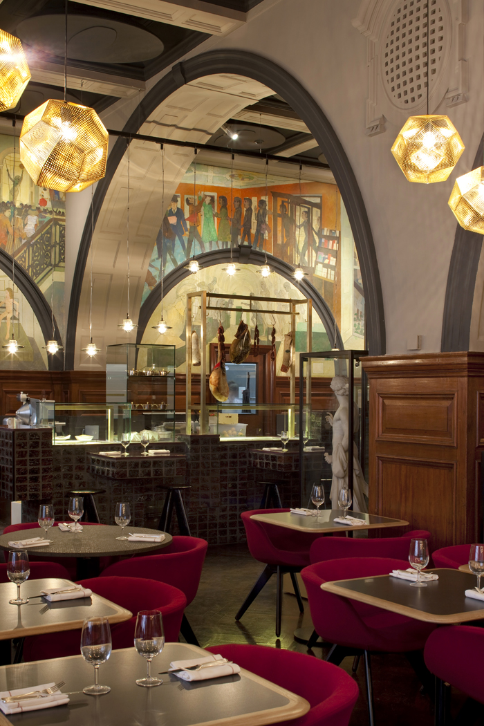 Restaurant at the royal academy by tom dixon for Restaurant design london